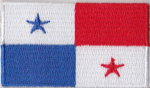 Panama Embroidered Flag Patch, style 04